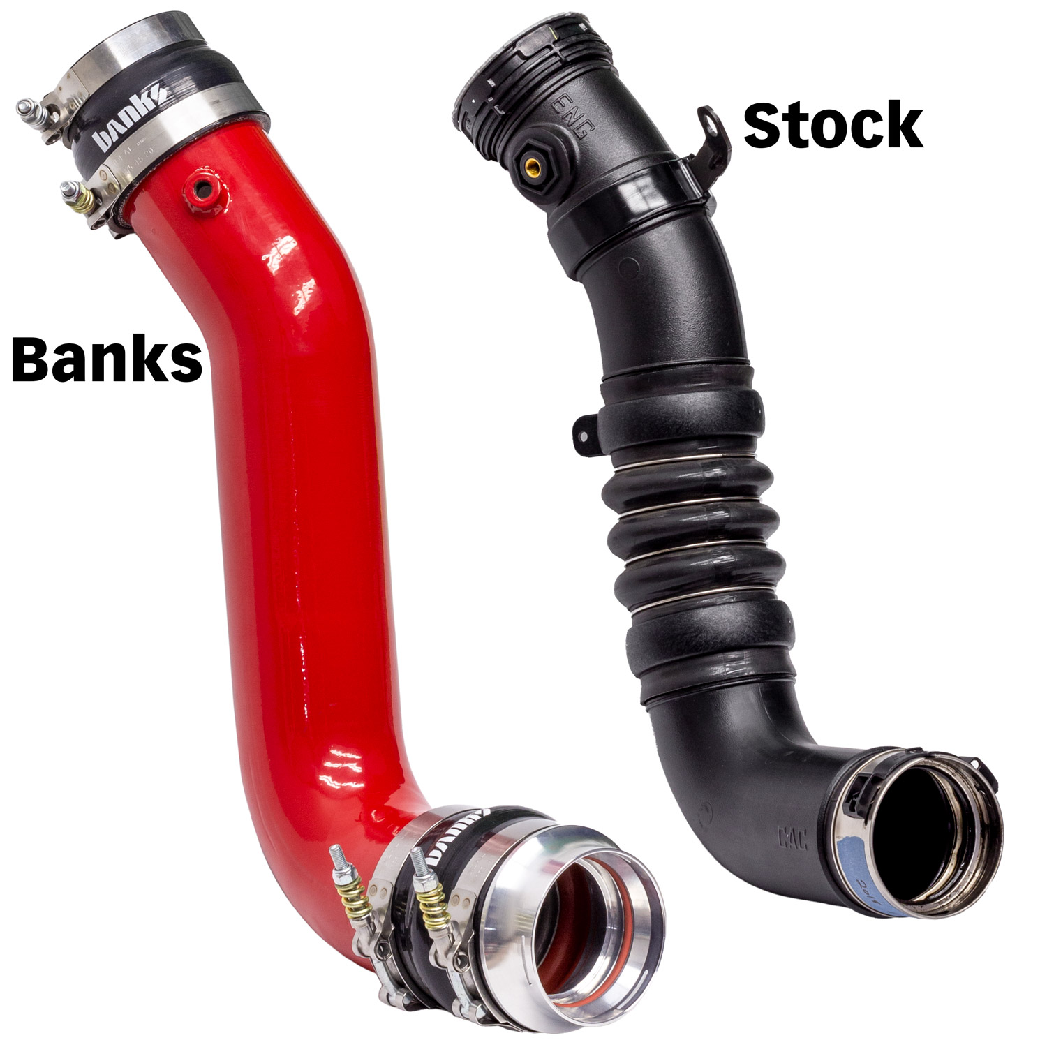 Banks Power, Boost Tubes, Intercooler Pipes, Charge Air Cooler, Banks vs Stock